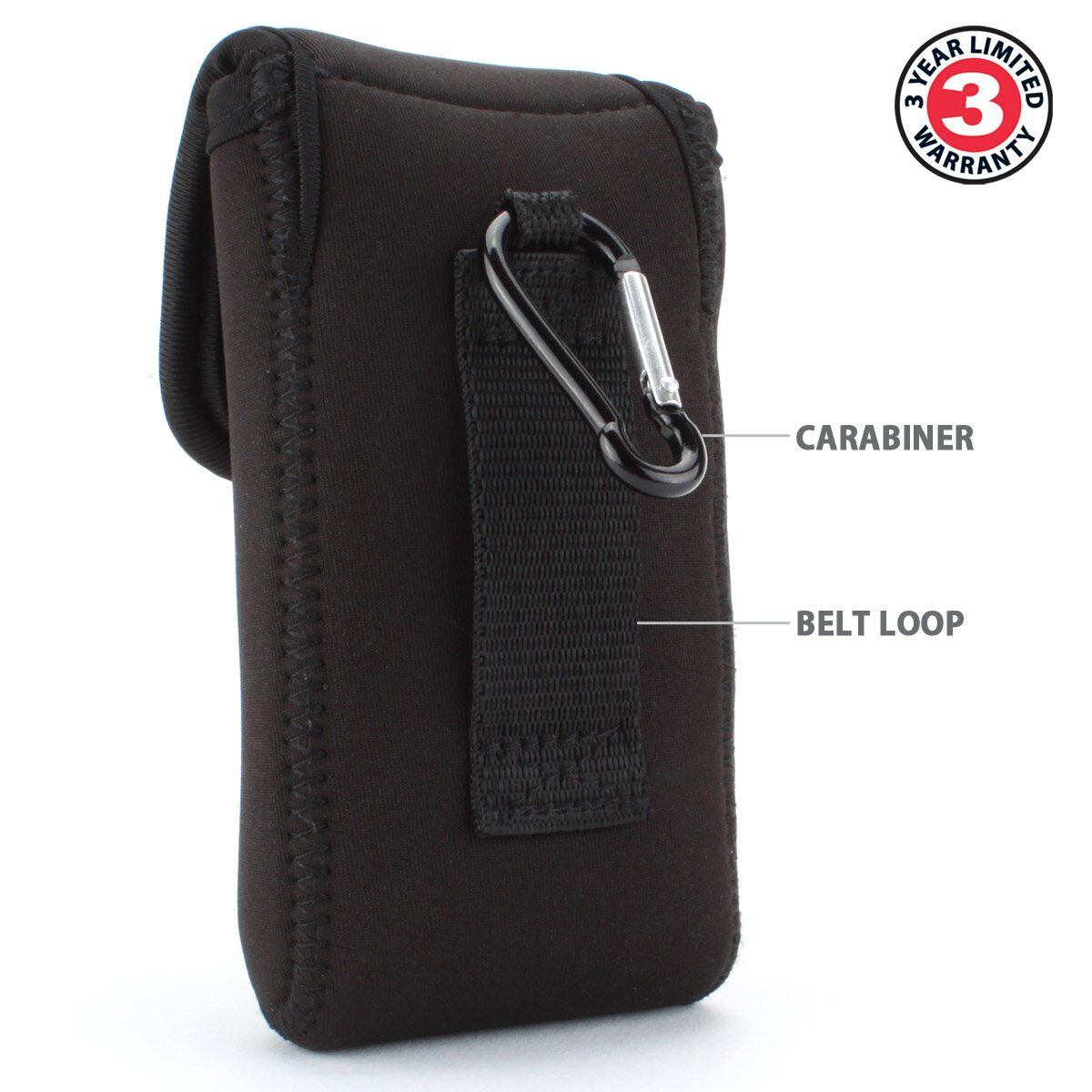 USA Gear Compact Digital Camera Case for Slim Cybershot , Powershot , LUMIX , Coolpix - Belt Loop 1