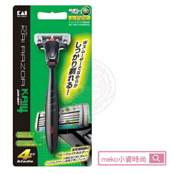 meko美妝生活百貨:【日本貝印】K4深剃舒適刮鬍刀(5刀刃)