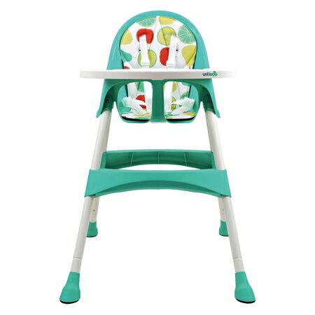 【淘氣寶寶】英國 unilove 兒童餐椅 高度兩段式調整【公司貨】藍色