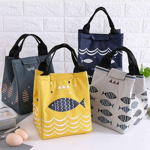 日本可愛卡通牛津布加厚錫箔保溫袋 飯盒袋 便當包 手提包 便當袋 手提袋