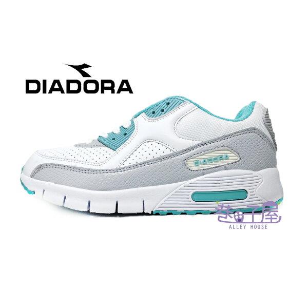 【巷子屋】義大利國寶鞋-DIADORA迪亞多納女款D寬楦超輕潮流慢跑鞋200g[2885]綠超值價$590