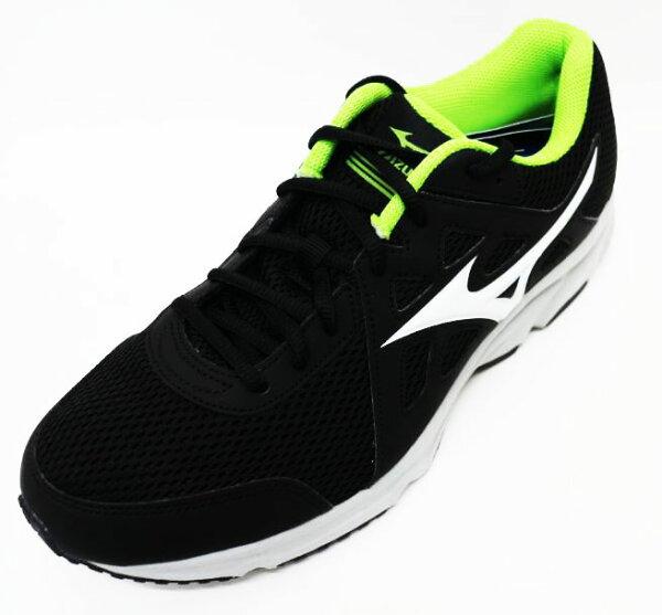 MIZUNO美津濃男SPARK2慢跑鞋入門跑鞋緩衝透氣超耐磨橡膠底K1GA170302(黑綠)[陽光樂活]