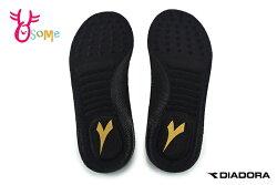 DIADORA迪亞多那 動能乳膠鞋墊 止滑 吸震 三種足弓頂立 23-28CM I8749#黑色◆OSOME奧森鞋業
