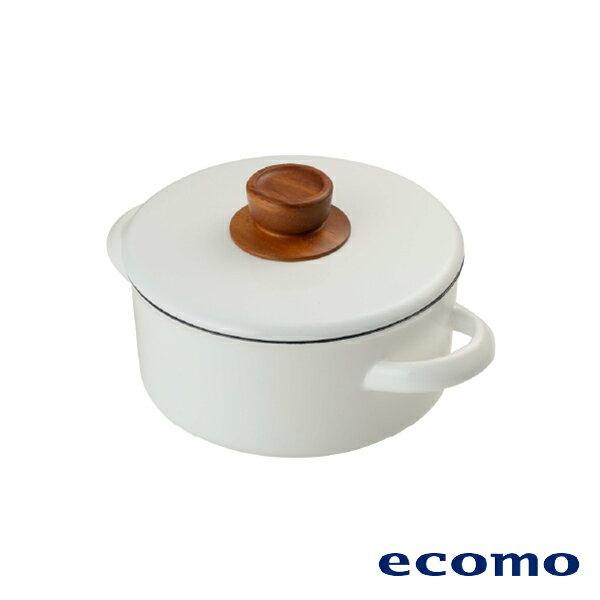 【領券現折+點數回饋$583】日本 ecomo ( AIM-CT101 ) cotto cotto IH電磁爐 x 富士琺瑯鍋組 2