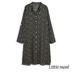 Little moni 印花長版襯衫-深綠