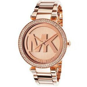 【MICHAEL KORS】正品 MK LOGO 玫瑰金 鑲鑽 計時 手錶 腕錶 MK5865【全店免運】
