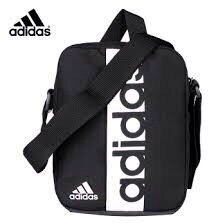 KUMO SHORE-Adidas LINEAR 腰包 側背包 斜背包 小包 小方包  黑 S99975
