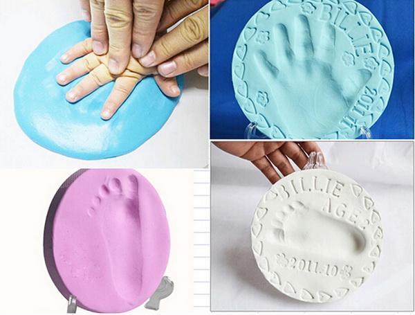 Super Soft Clay Baby Handprint Footprint Imprint Casting Hand Inkpad Fingerprints 4