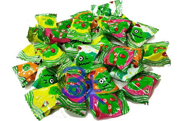 (台灣) 搗蛋糖 1包 600 公克(約 115 顆) 特價 120 元 ( 檸檬 草莓 蘋果 橘子 ) (整人糖 秀逗糖 萬聖節糖果)