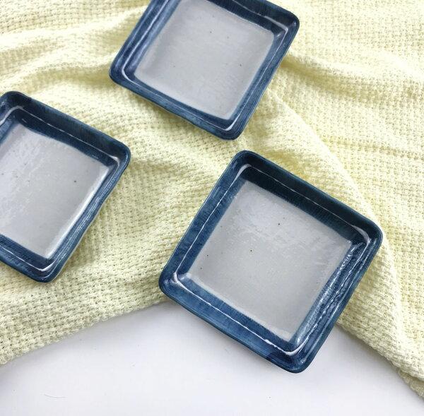 |現貨特價|日本製布紋白線角碟|陶瓷小碟|現貨|