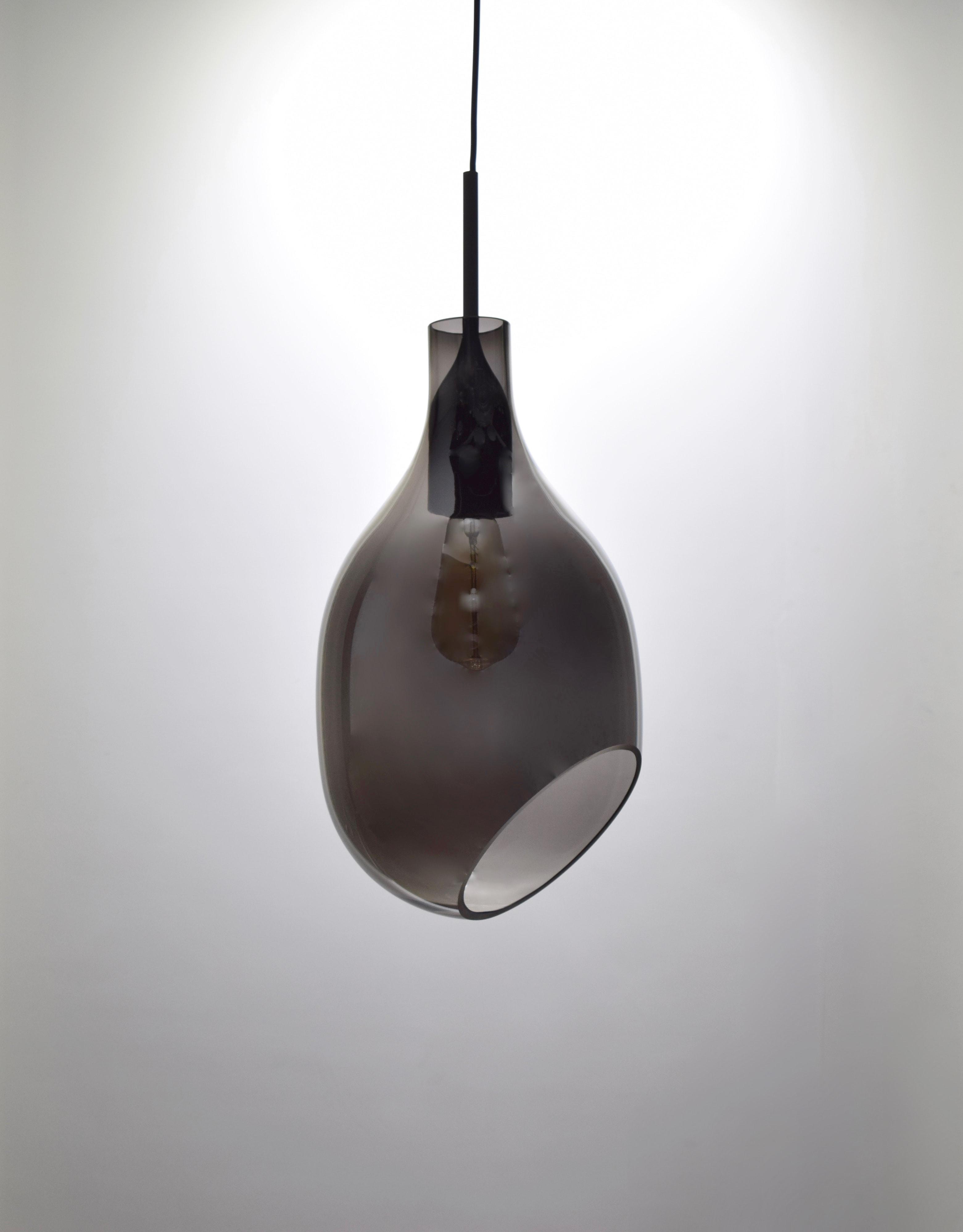 VESSEL 斜口玻璃煙灰色吊燈-BNL00127 0