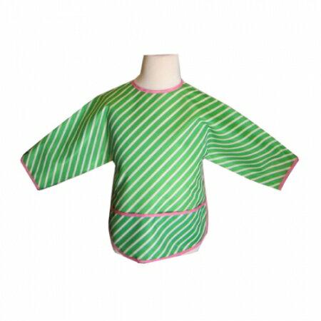★衛立兒生活館★美國 Jaq Jaq Bird 多功能學習衣 (綠色斜紋)