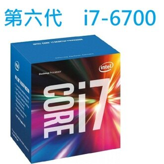 INTEL Core i7 6700 處理器 (8M Cache, up to 4.00 GHz)