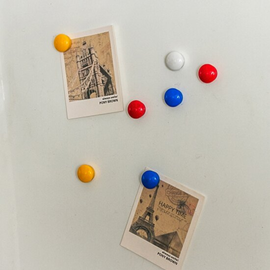 ♚MY COLOR♚多彩圓形立體磁鐵(12入) 磁性 冰箱 鐵質 吸附 留言貼 裝飾 擺設 名片【J47-3】