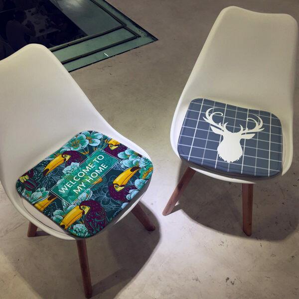 時尚簡約四季沙發墊加厚坐墊4辦公室學生椅墊餐椅墊