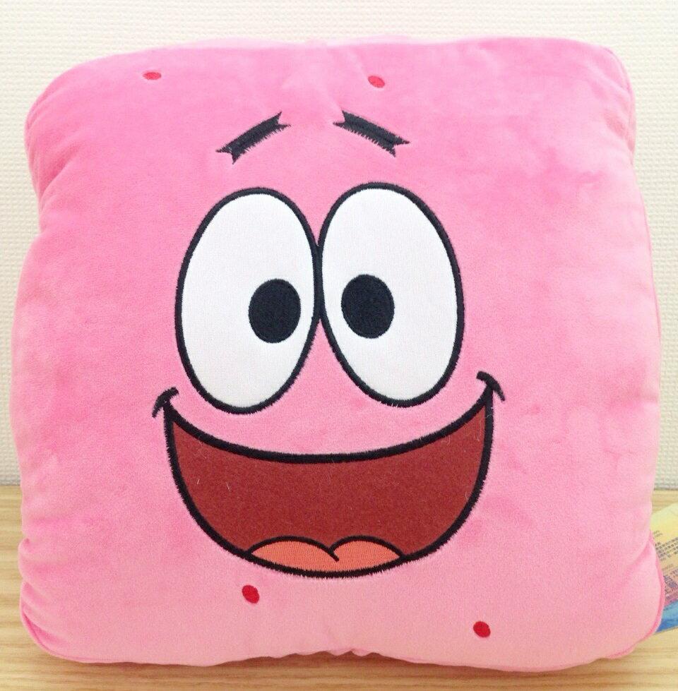 【真愛日本】15111600007方型臉暖手枕-派大星  熱門卡通 海綿寶寶 派大星   暖手枕  靠枕  抱枕