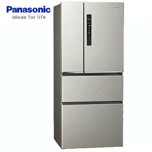 Panasonic 國際 NR-D509HV-S 500L 四門冰箱 銀河灰 ECONAVI 智慧節能科技 無邊框鋼板系列 變頻 新1級能源效率 Ag銀除菌 系統家具最適尺寸