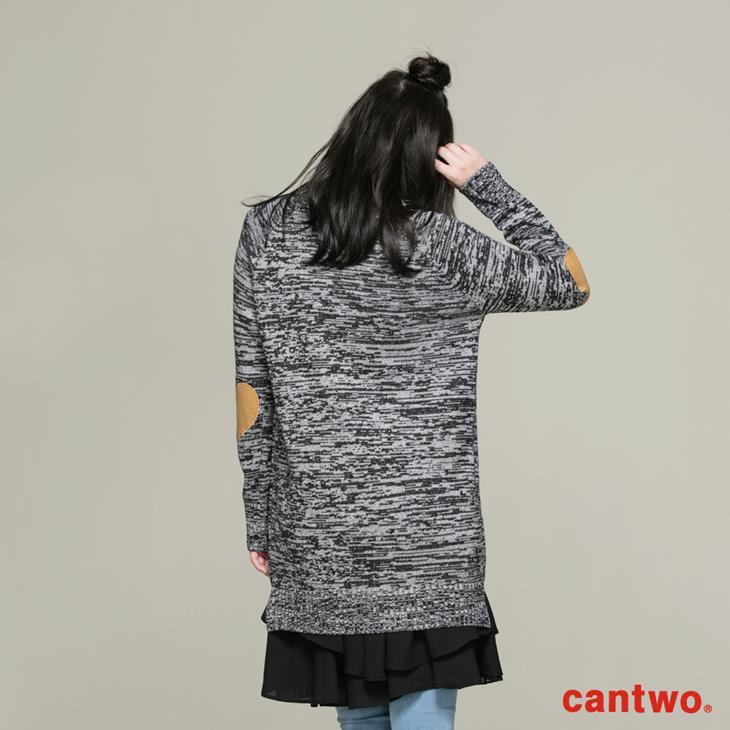 cantwo簡約字母長版針織上衣(共三色) 3