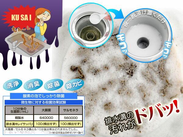 日本製酵素水管清潔劑廚房浴室排水溝毛髮洗碗機排水孔775331代購