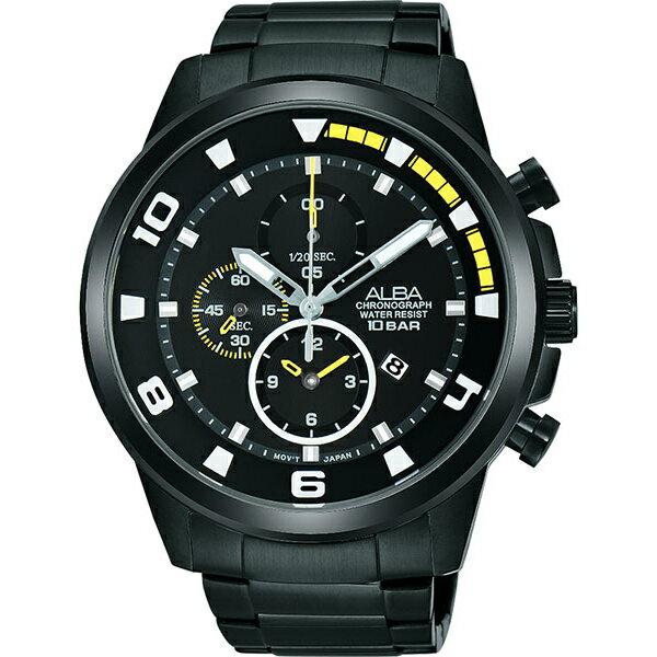 ALBA YM92-X269SD(AF8U09X1)即動宣言時尚計時腕錶/黑面47mm