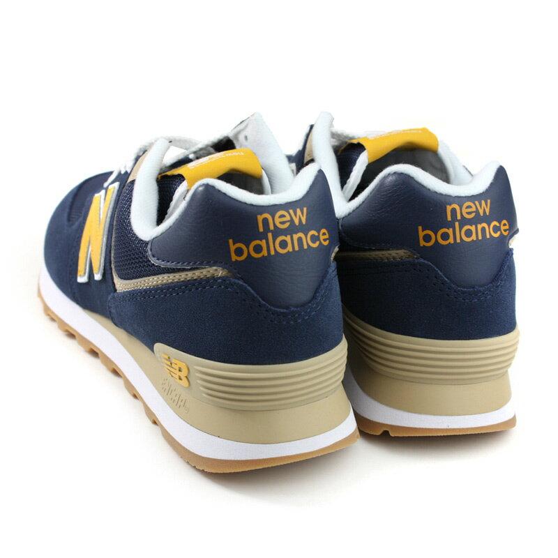 NEW BALANCE 574系列 運動鞋 復古鞋 深藍 / 黃 男鞋 ML574SPF-D no709 1