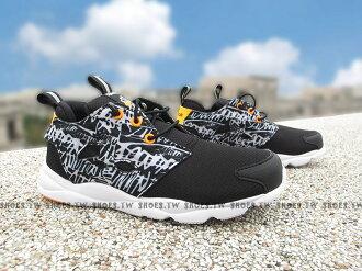 Shoestw【BD2432】Reebok FuryLite Graphic 中童鞋 免綁帶 黑白斑馬├【1101-1130】單筆訂單滿700折100★結帳輸入序號『loveyou-beauty』┤