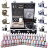 Complete Tattoo Kit 54 Color Ink 8 Machine Guns Set LCD Power Supply Equipment 0