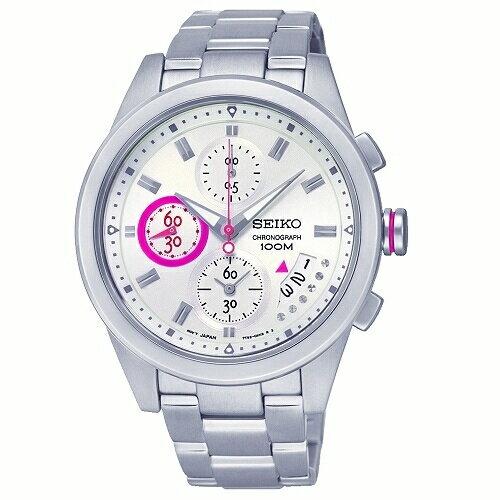 SEIKOCriteria時尚休閒風格三眼計時女腕錶白面33mmSNDW61P1(7T92-0RV0S)