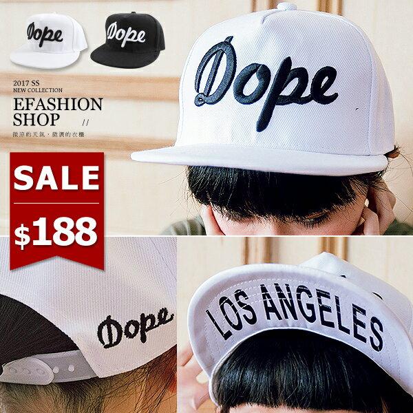 Dope棒球帽~eFashion 預~F14200045~