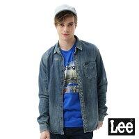 Lee 牛仔襯衫 牛仔長袖襯衫/VL-男款-中古淺藍-Lee Jeans tw-潮流男裝