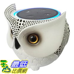 [106美國直購] Owl Statue Crafted Guard Station for Amazon Echo Dot 2nd and 1st - BFF For Alexa