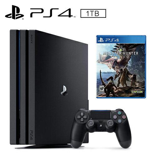 SONY PS4 PRO 1TB 主機 + 魔物獵人 世界《中文版》【三井3C】