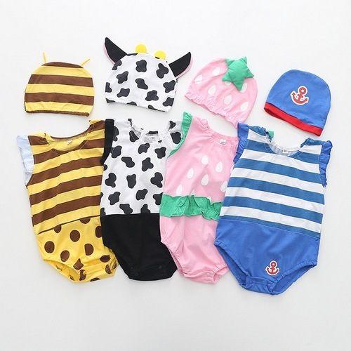 水果造型 短袖包屁衣 連身衣兔裝+造型帽 XE1358 好娃娃嚴選 - 限時優惠好康折扣