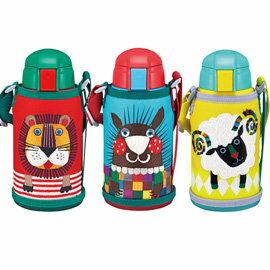 【TIGER虎牌】 600cc動物造型童用保溫保冷瓶 2用頭MBR-S06G(單個)