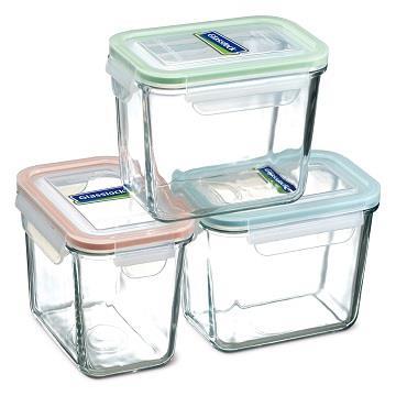 Glasslock強化玻璃保鮮罐3入組SP-1803**免運費**