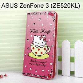 Hello Kitty 彩繪皮套 [咖啡杯] ASUS ZenFone 3 ZE520KL (5.2吋)【三麗鷗正版】