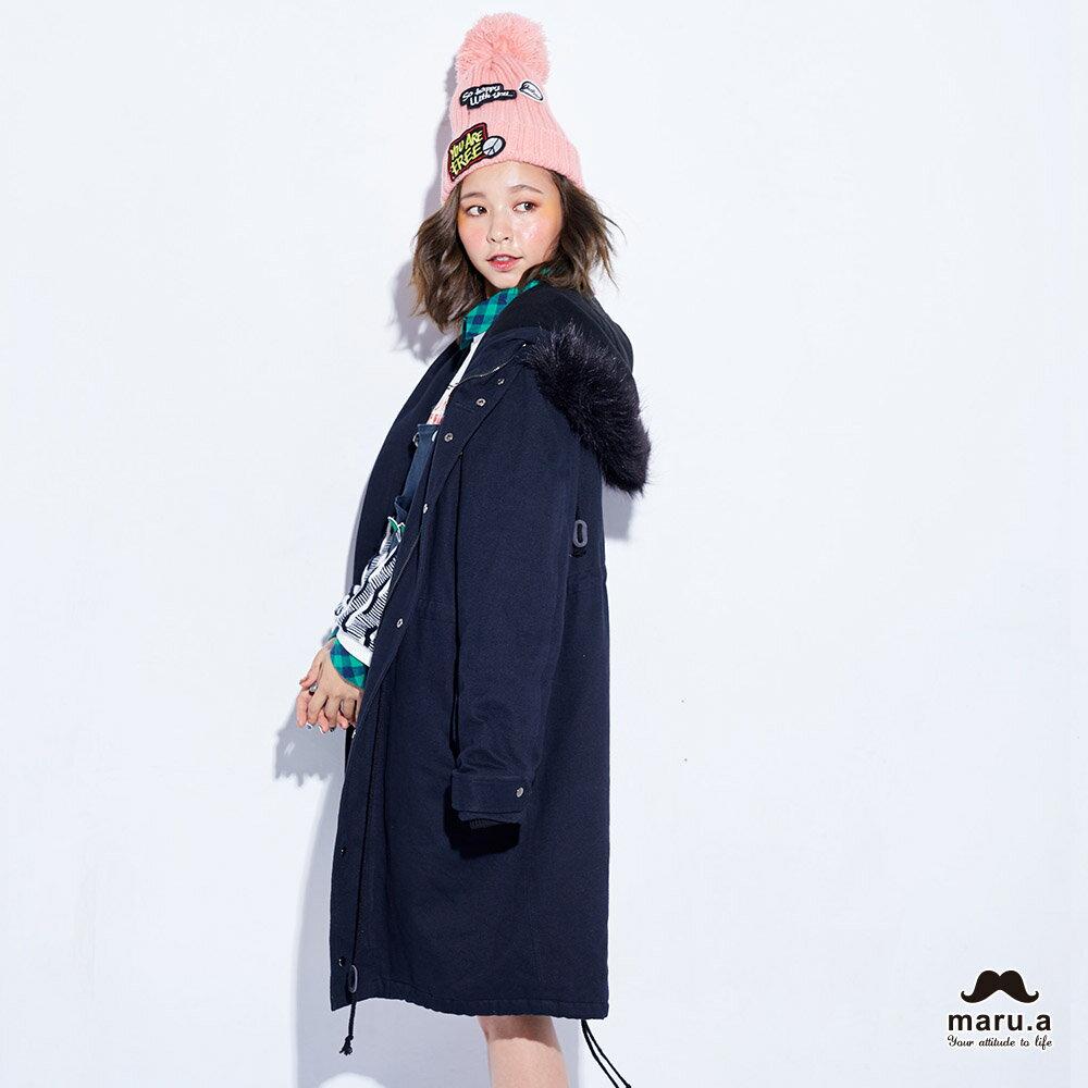 【maru.a】特色貼布防風長版外套(2色)7912214 5