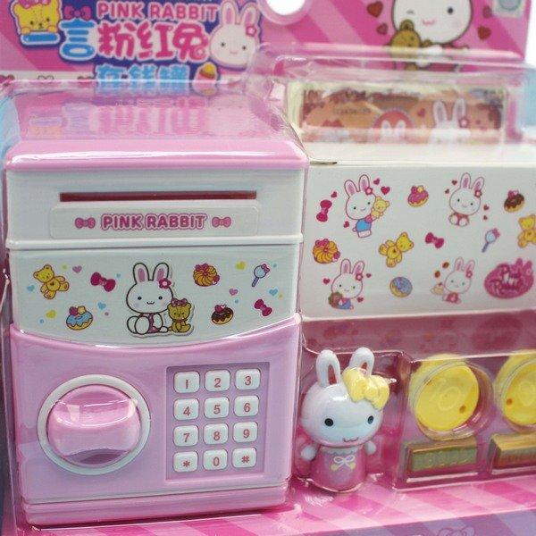 一言粉紅兔存錢罐 金庫 YY17052 / 一個入(促199) 存錢筒 貯金箱-生K3397 1