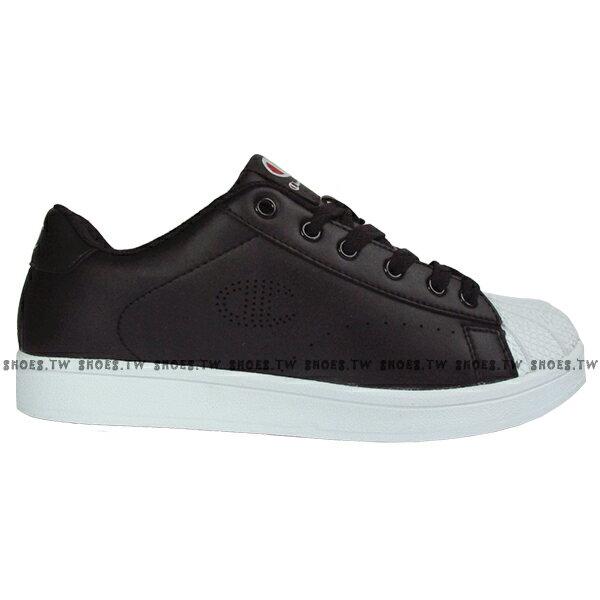 Shoestw【921210111】【921220111】Champion 休閒鞋 貝殼鞋 板鞋 皮革 黑白 男女尺寸都有 情侶款式 0