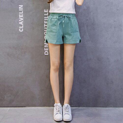 亞麻闊腿棉麻短褲(5色S~3XL)【OREAD】 1