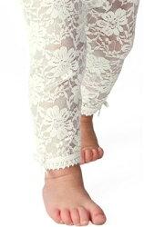 美國 Baby Emporio 造型棉襪 蕾絲緊身褲 嬰兒褲襪 白色 6-12M 12-18M