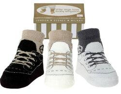 美國 Baby Emporio 造型棉襪 優雅布鞋 嬰兒襪 襪子 0-9M 3件組 (禮盒)