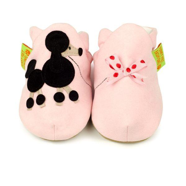 英國 Funky Feet 手工學步鞋 室內鞋 黑色貴賓狗 6-24M