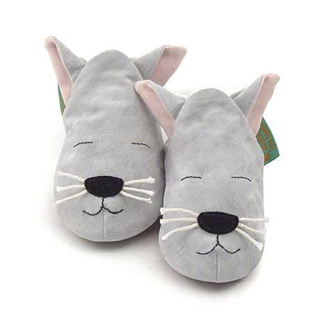 英國 Funky Feet 手工學步鞋 室內鞋 小花貓 6-24M