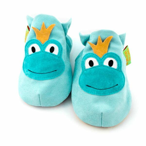 英國 Funky Feet 手工學步鞋 室內鞋 青蛙王子 6-24M