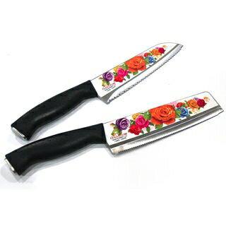 韓國 Golden Rose 熱銷玫瑰天使刀具組(鋸齒刀+主廚刀) 100%韓國製造正品