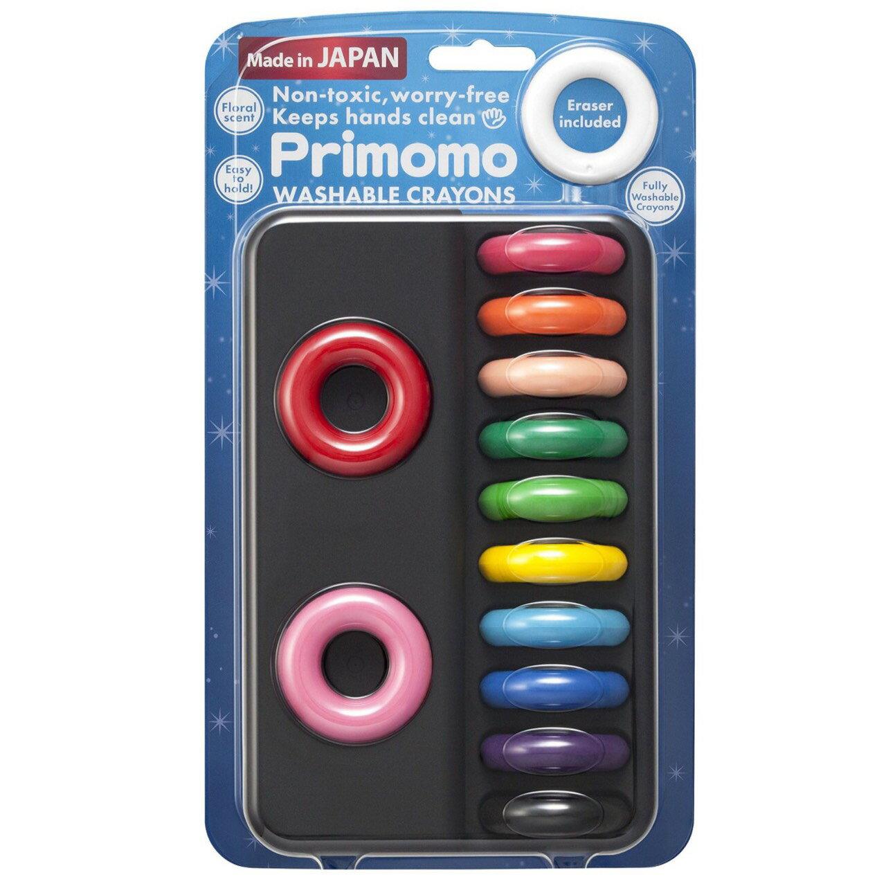 日本 Primomo 12色 戒指無毒蠟筆