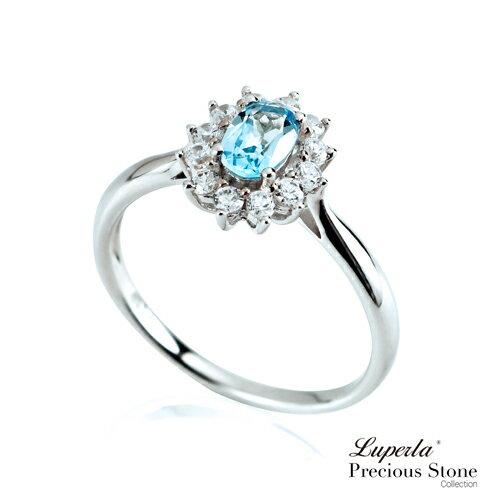 大東山珠寶 燦爛極光 璀璨純銀藍托帕石戒指 星座愛情