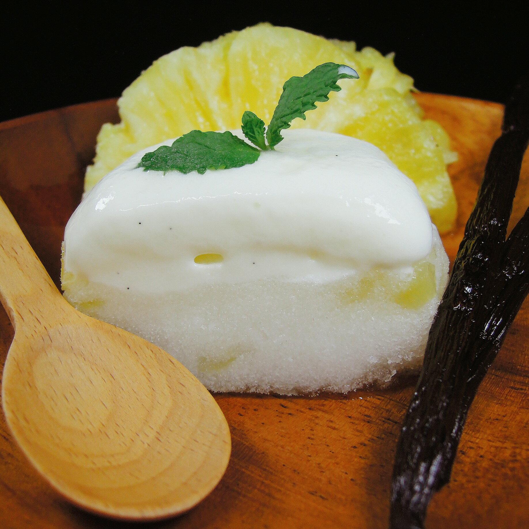 【巷仔內手作冰品,給最內行的你】香草鳳梨口味霜層冰淇淋,香草冰淇淋+鳳梨霜160ml