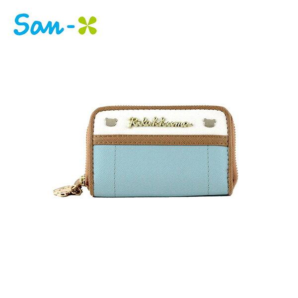 藍色款【日本正版】拉拉熊皮革零錢包卡片包懶懶熊RilakkumaSan-X-428591